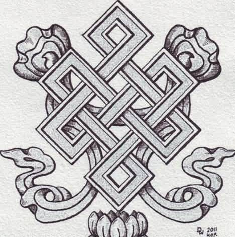 Cobra Snake Style Endless Knot Tattoo