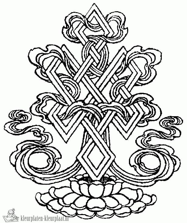 Creative Endless Knot Tattoo Sketch
