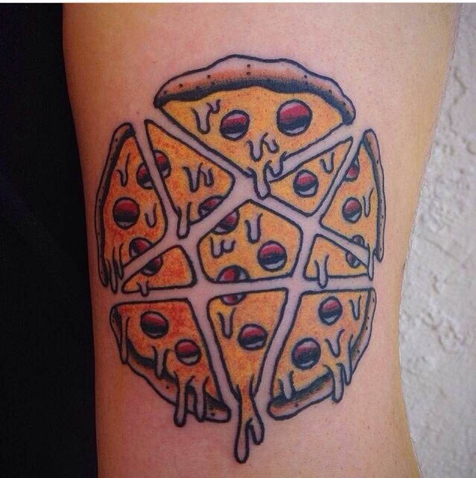 Cut Star Pizza Tattoo