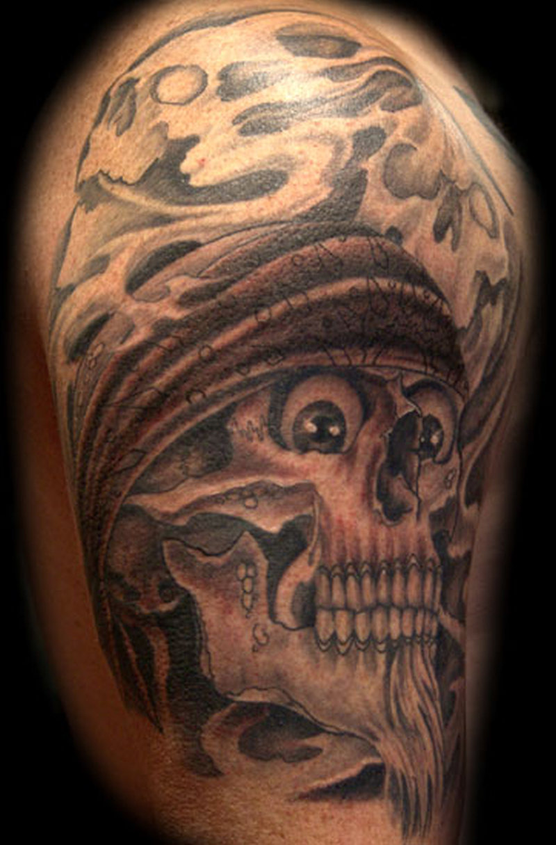 Dangerous Gangsta Skull Tattoo