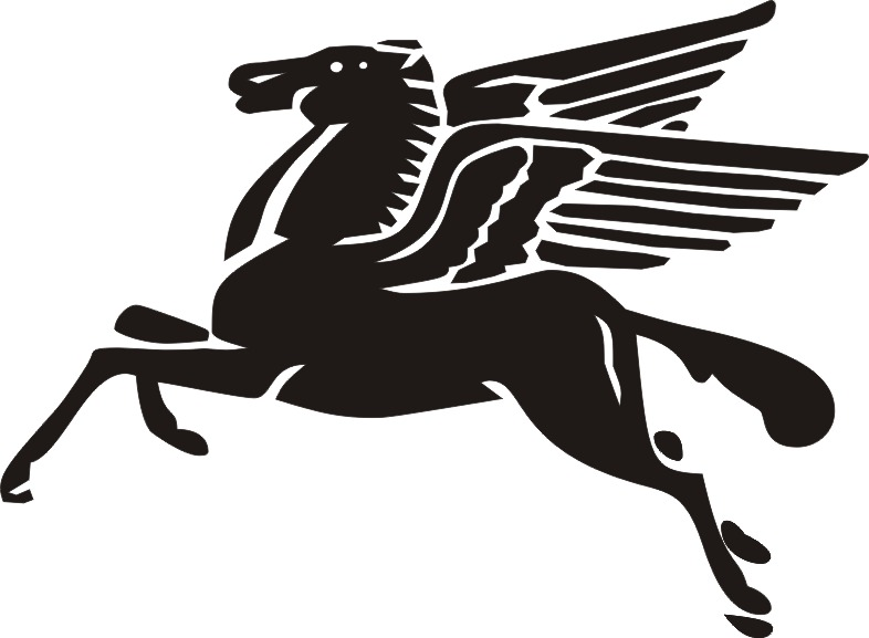 Dark Black Ink Awesome Pegasus Tattoo Design Idea On Paper