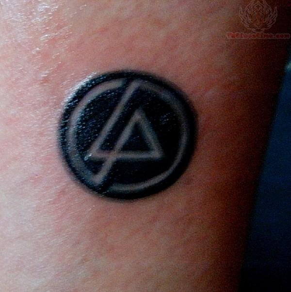 Dark Black Ink Linkin Park Symbol Tattoo Design