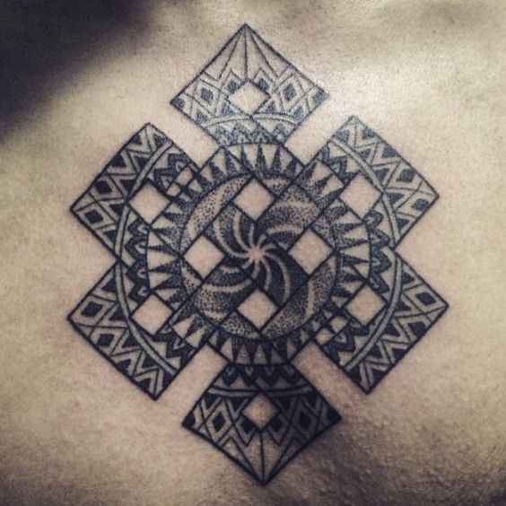 Dasha Design A Awesome And Nice Dotwork And Cool Endless Knot Tattoo