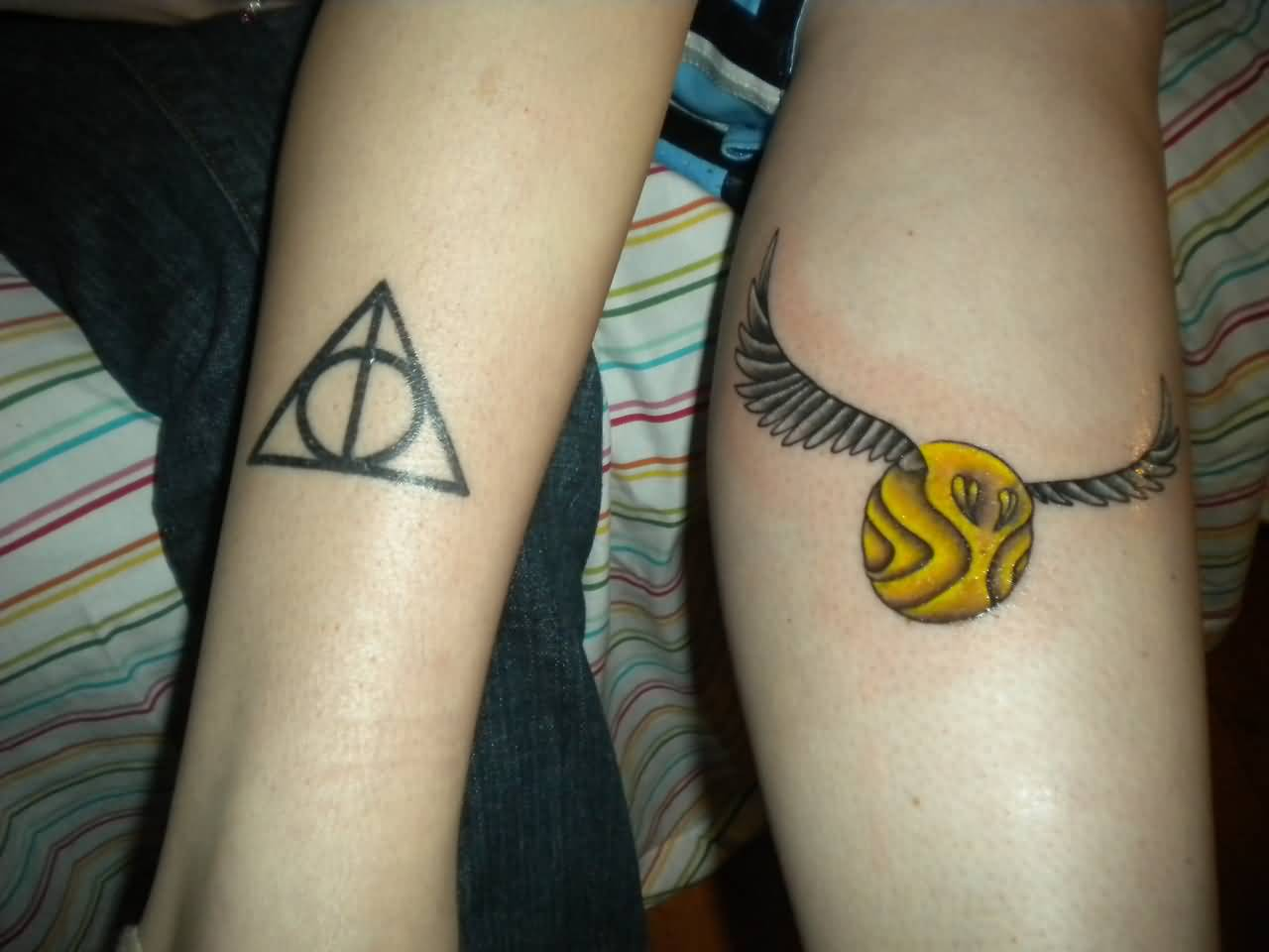 Deathly Nice Hallows Symbol Tattoo