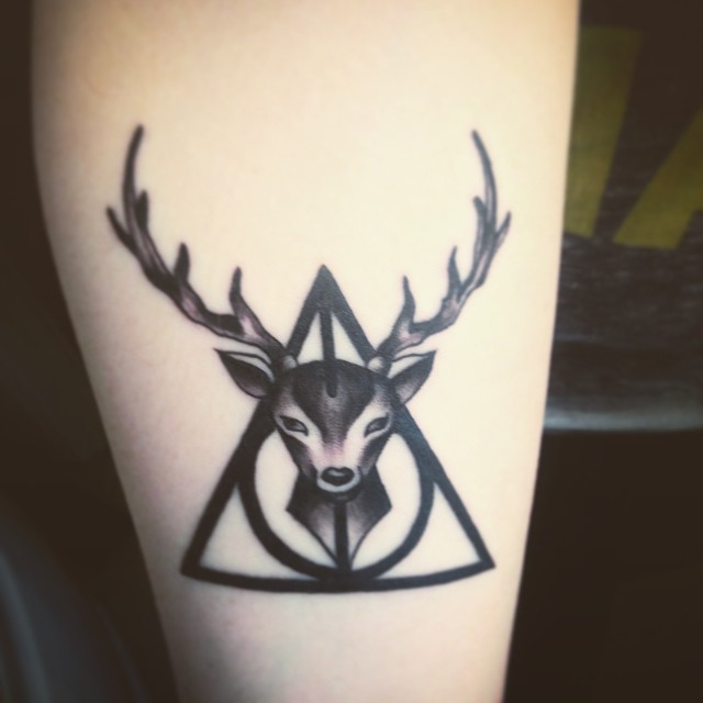 Deer Face Hallows Tattoo