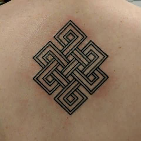 Designable Awesome Upper Back So Good Endless Knot Tattoo