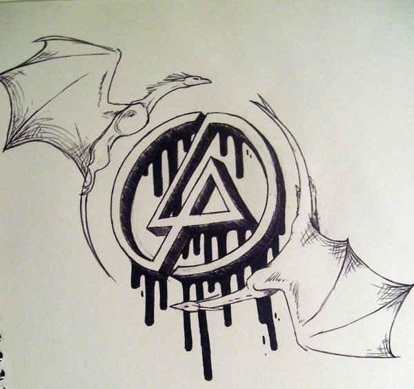 Dragon With Wings Linkin Park Symbol Tattoo Design Idea