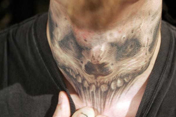 Extreme Tattoo Of Scary Skull