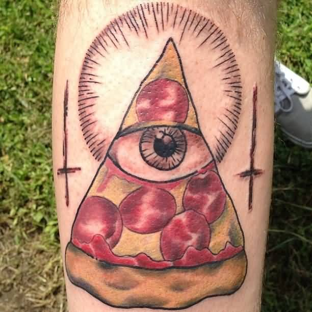 Eye Slice Pizza Tattoo