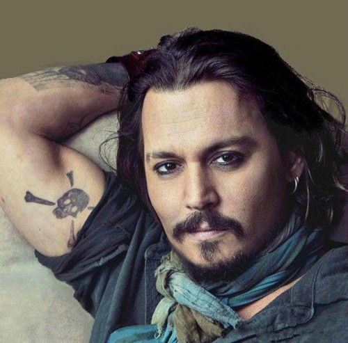 Famous Actor Show Amazing Jolly Roger Tattoo