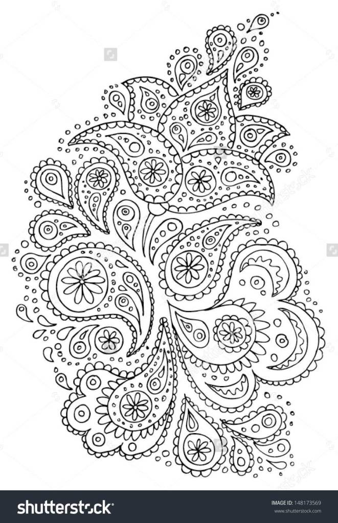 Fantastic And Amazing Paisley Pattern Tattoo Design