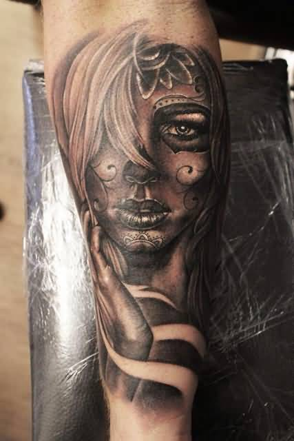 Fantastic And Nice Catrina Tattoo Design Idea