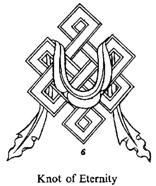 Fantastic And Nice Endless Knot Tattoo Design Stencil