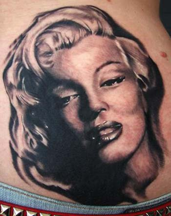 Fantastic And Nice Look Amazing Marilyn Monroe Face Tattoo Design Idea