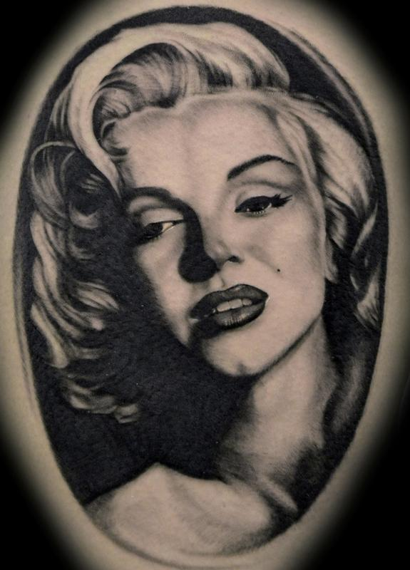 Fantastic And Nice Marilyn Monroe Portrait Tattoo Design