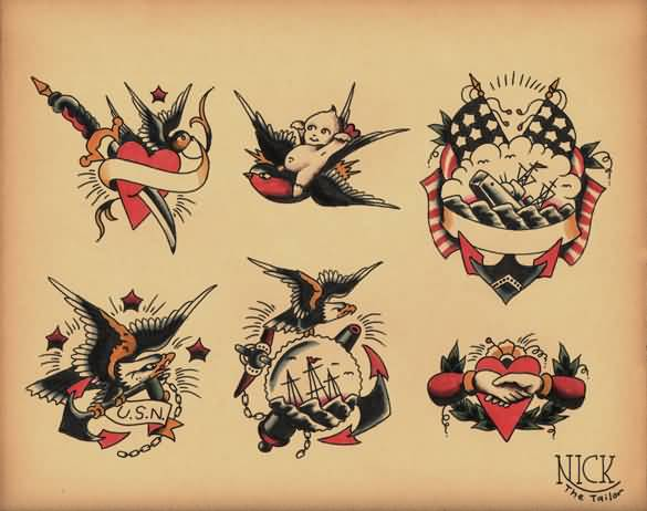 Fantastic And Nice Old School Tattoo Design