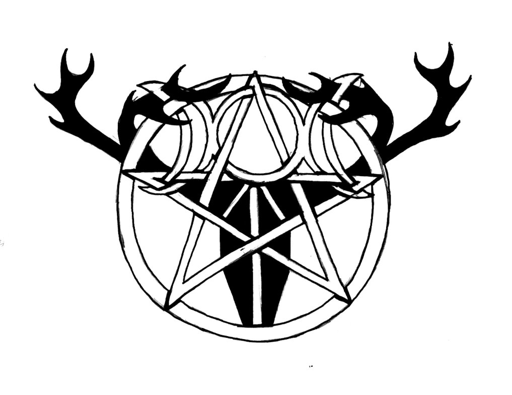 Fantastic And Nice Pagan Star Symbol Tattoo