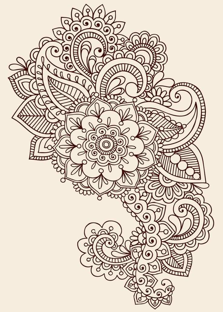 Fantastic And Nice Paisley Pattern Tattoo Design