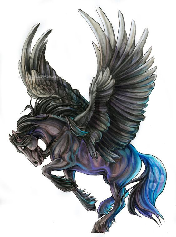 Fantastic And Nice Pegasus Tattoo Design Idea