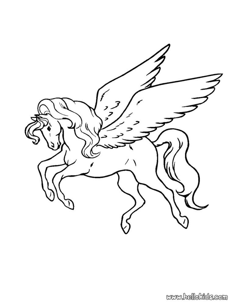 Fantastic And Nice Pegasus Tattoo Stencil