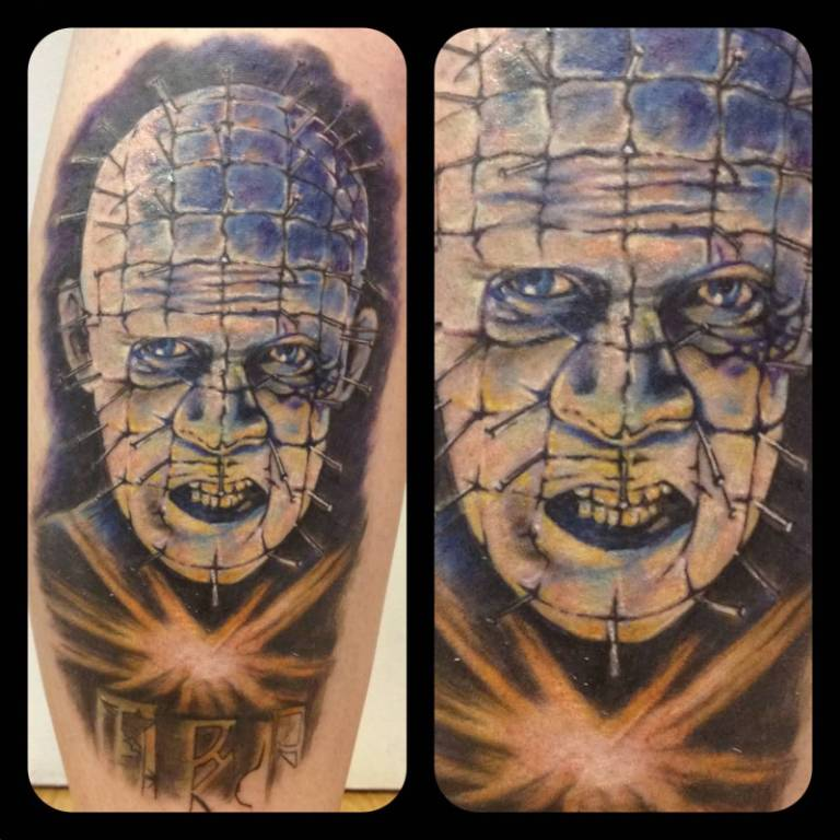 Fantastic And Nice Pinhead Tattoo Design Idea (2)