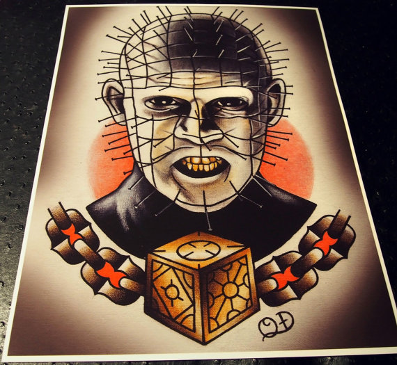 Fantastic And Nice Pinhead Tattoo Design Idea