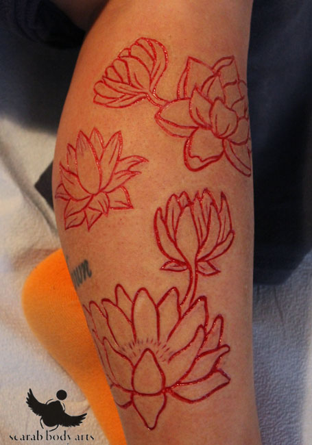 Fantastic And Nice Scarification Tattoo Of Beautiful Rose Flower