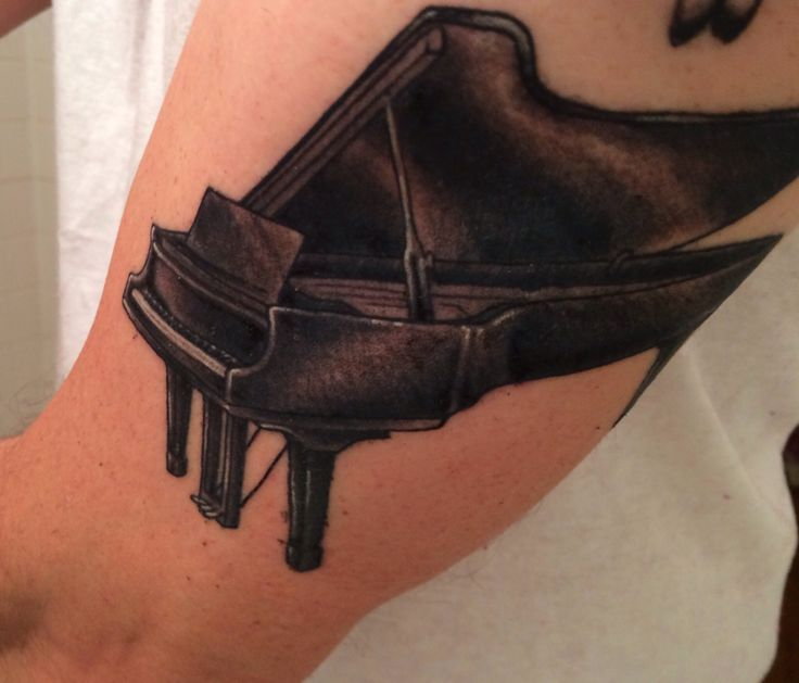 Fantastic And Simple Grand Piano Tattoo