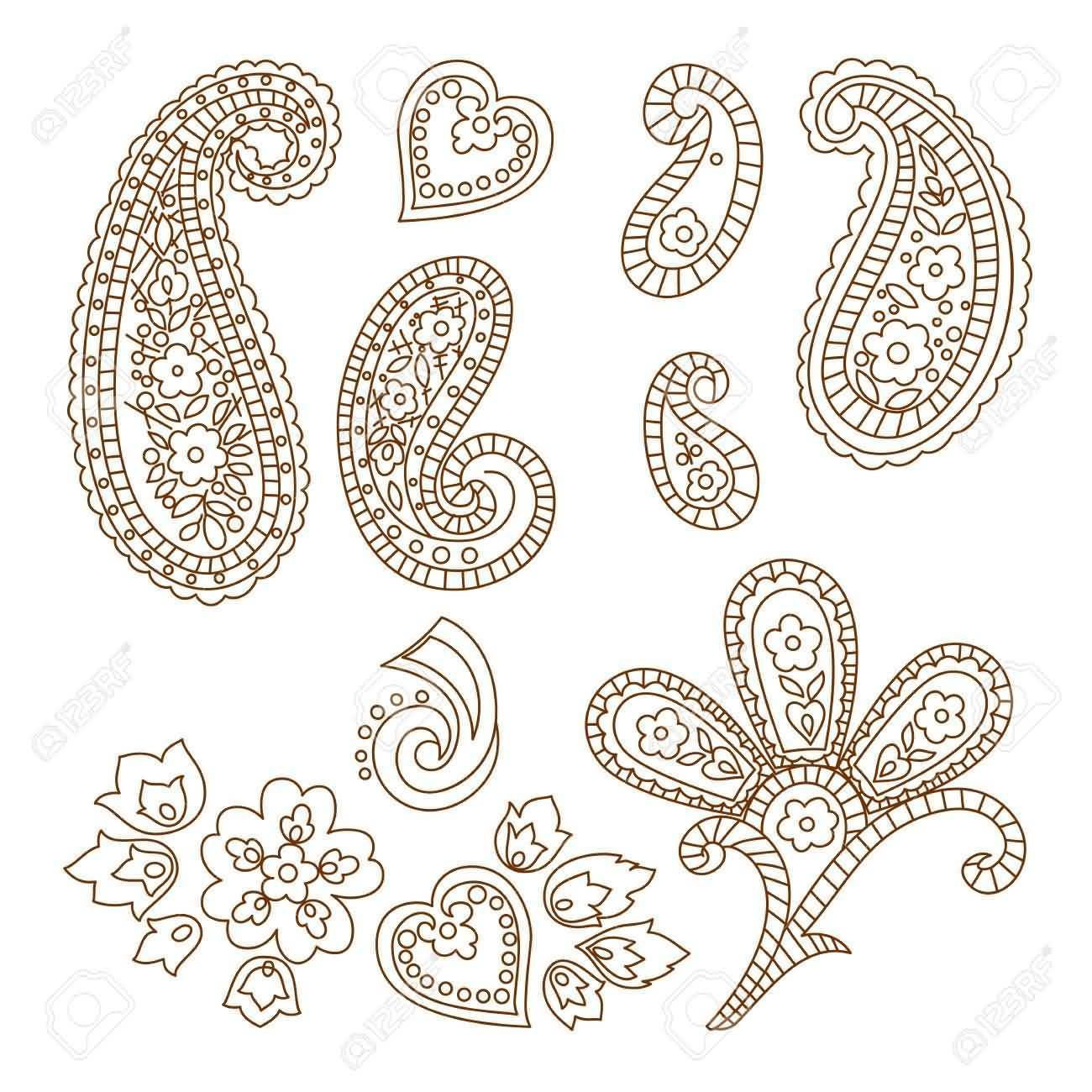 Fantastic And Simple Paisley Pattern Tattoo Design
