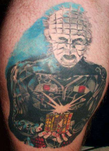 Fantastic And Simple Pinhead Tattoo Design Idea