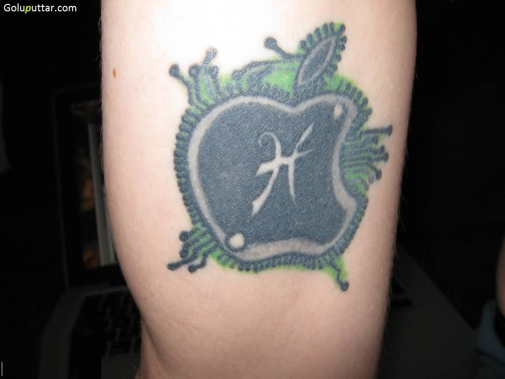Fantastic Apple Logo Tattoo Design
