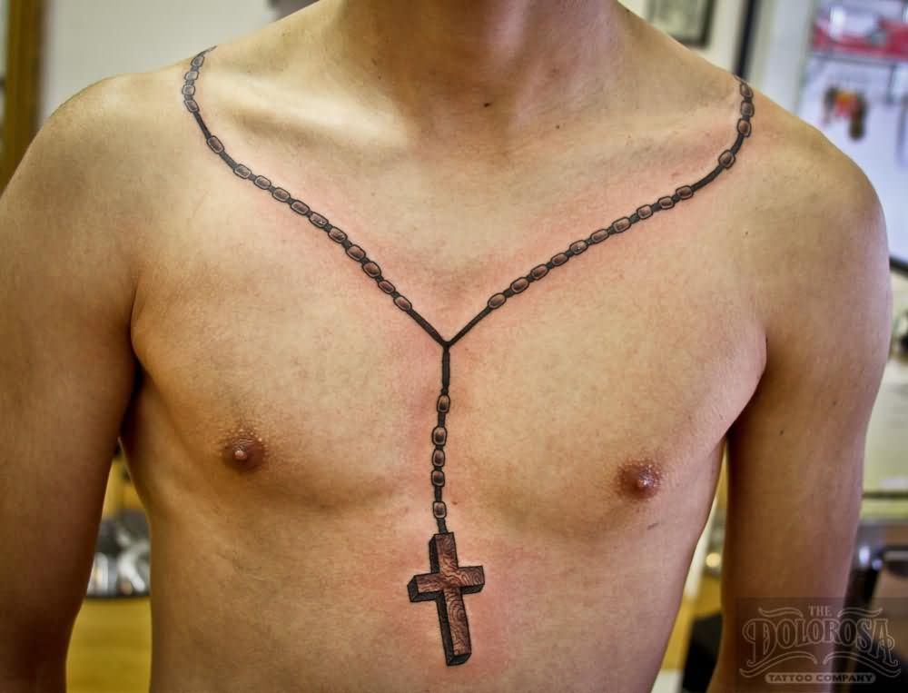 Fantastic Chain Cross Amazing Necklace Tattoo