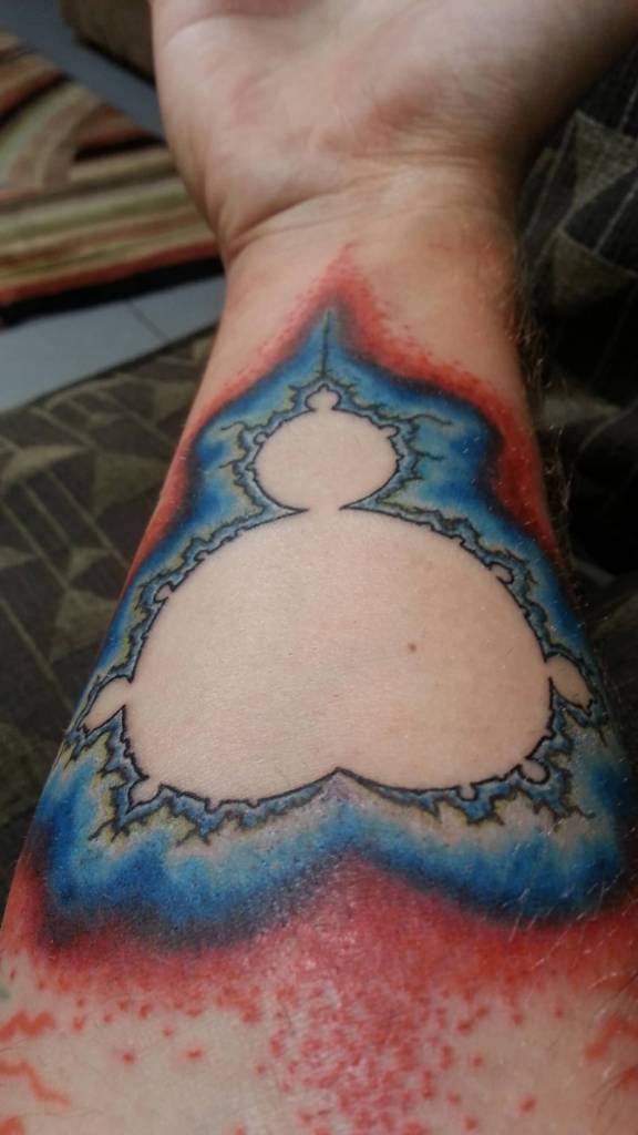 Fantastic Forearm Lower Sleeve Mandelbrot Tattoo