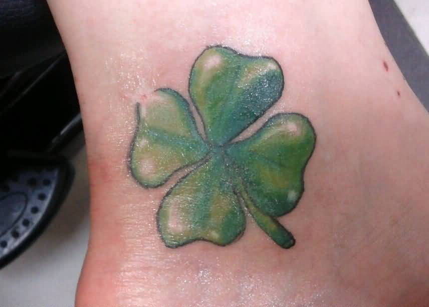 Fantastic Four Nice Shamrock Tattoo On Girl Ankle