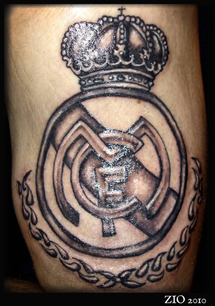 Fantastic Nice Real Madrid Logo Tattoo Design