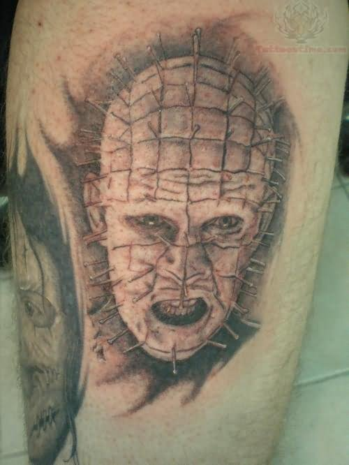 Fantastic Pinhead Tattoo Design Idea
