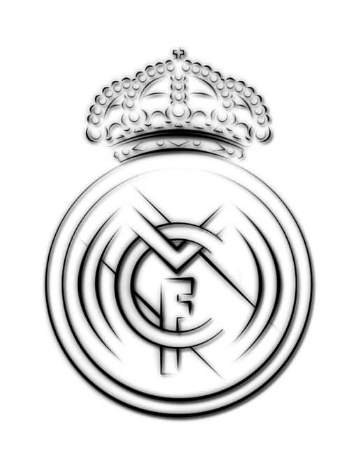 Fantastic Real Madrid Tattoo Design Stencil