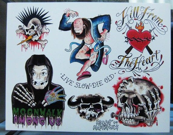 Fantastic Smaples Of Punk Tattoo