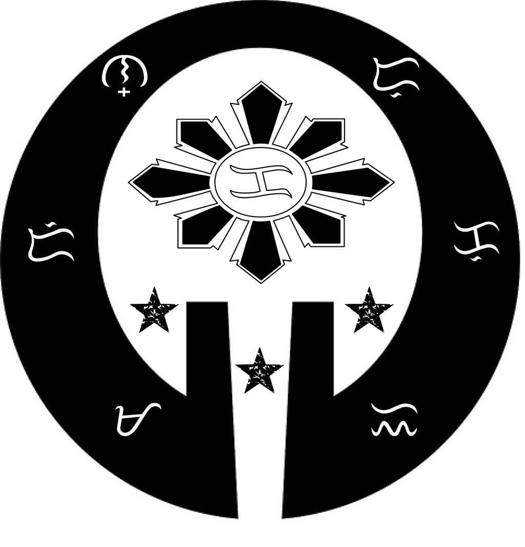 Filipino Symbol And Sun And Star Tattoo Design Stencil