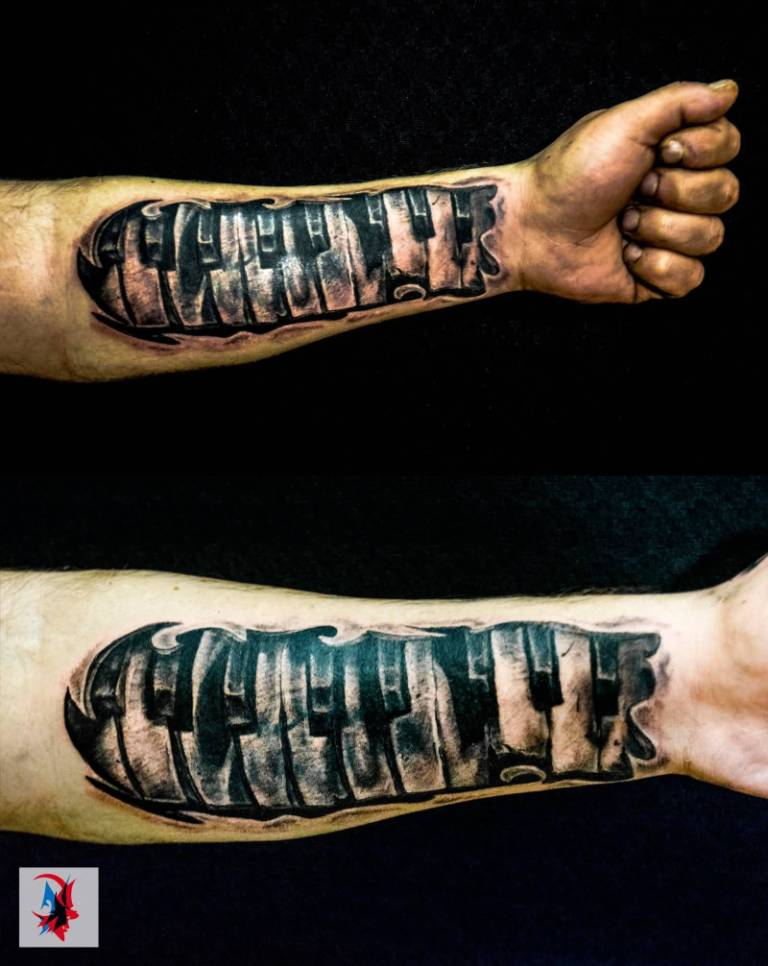 Forearm Amazing And Nice Piano Keys Tattoo