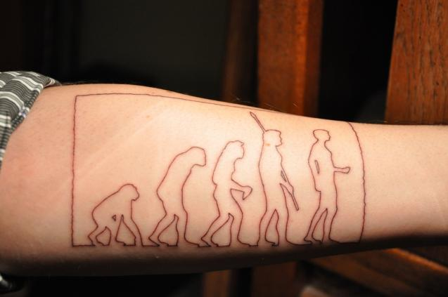 Forearm Human Science Mens Tattoo
