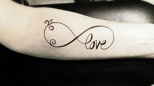 Forearm Love Infinity Tattoo
