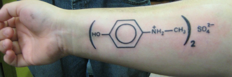 Forearm Simple Science Forearm Tattoo