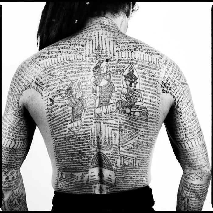 Full Back Traditional Cultural Historical Tattoo