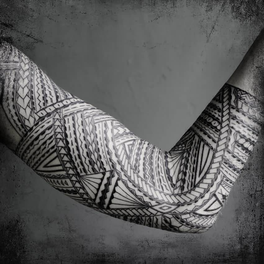 Full Sleeve Amazing Samoan Tattoo