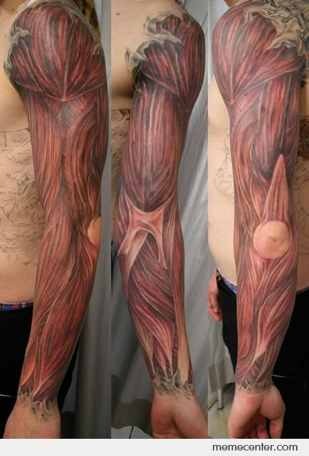Full Sleeve Extreme Body Muscle Tattoo