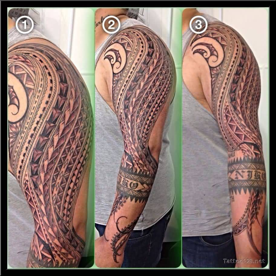 Full Sleeve Samoan Tattoo