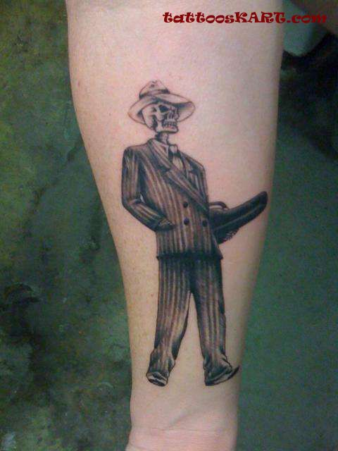 Gangsta Gentlemen Skeleton Tattoo