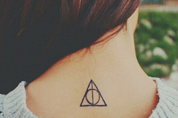 Girl Nape Nice Hallows Tattoo (3)