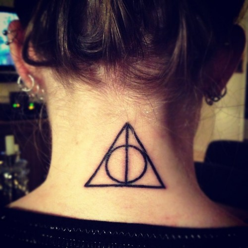 Girl Nape Nice Hallows Tattoo
